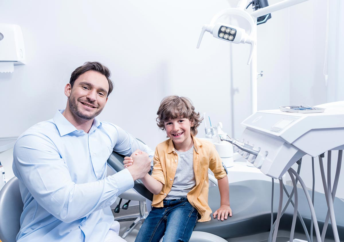 Child at the dental