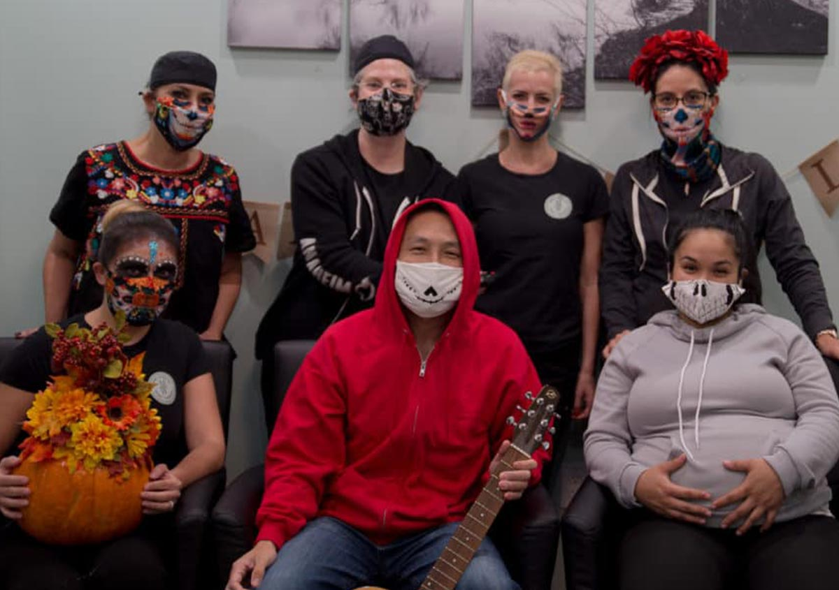 Group Image of Halloween celebration at Dr. Mark Wong DDS Featured Image
